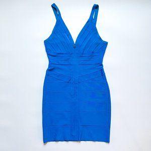 Herve Leger Blue Bandage Dress